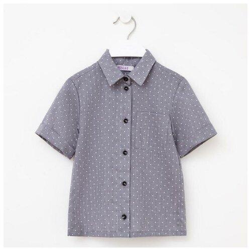 Купить Рубашка Minaku размер 116, серый, Рубашки