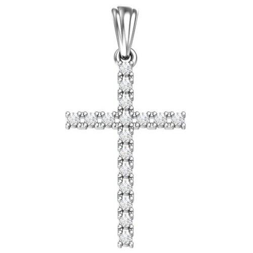 POKROVSKY Серебряная подвеска Крест с бесцветными фианитами 0800228-00775