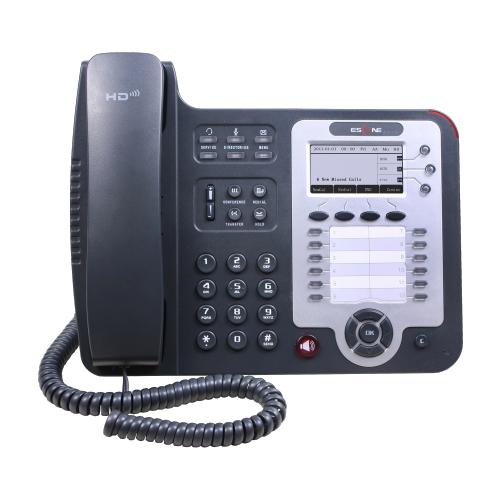 Escene SIP-телефон Escene ES330-PEGV4 3 SIP аккаунта, 132x64 LCD-дисплей, 8 программируемых клавиш, 12 клавиш быстрого набора BLF, XML/LDAP, регулируемая под