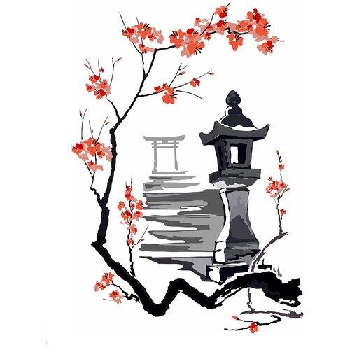 Наклейка Woozzee Каменный фонарь Торо суми-э NDS-1082-0706