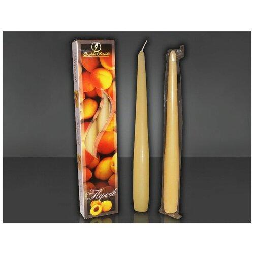 Набор античных ароматических свечей персик, 2.3х25 см (упаковка 2 шт.), Омский Свечной 003102-свеча