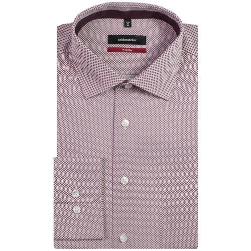 Рубашка Seidensticker размер 40 вишневый/белый