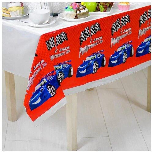 Скатерть Страна Карнавалия С Днем рождения тачка (1048651) страна карнавалия набор бумажной посуды с днем рождения маленький джентельмен 3877347 19 шт голубой