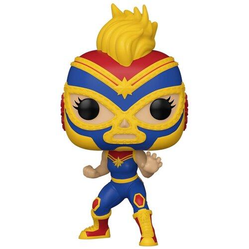 Фигурка Funko POP! Bobble: Капитан Марвел (Captain Marvel) Марвел: Лучадоры (Marvel: Luchadores) (53872) 9,5 см