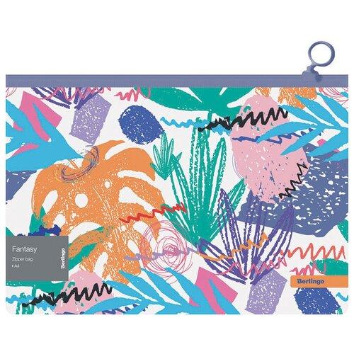 Купить Berlingo Папка-конверт Fantasy А4, на молнии, пластик, 12 штук, Файлы и папки