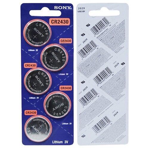 Литиевые батарейка Sony CR2430 (5 шт)
