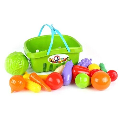 Набор овощи+фрукты в корзине, микс