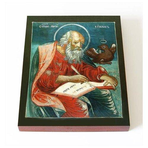 Апостол и евангелист Иоанн Богослов, икона на доске 8*10 см