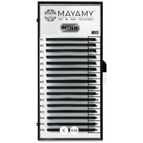 Купить Ресницы MAYAMY MINK 16 линий С 0, 05 MIX 5, Innovator Cosmetics