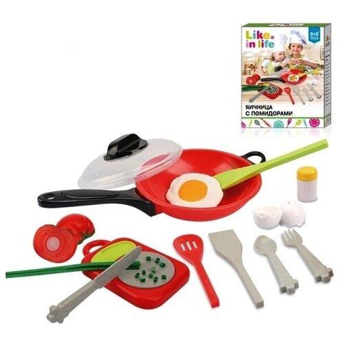 Shenzhen toys Набор посуды с продуктами в коробке