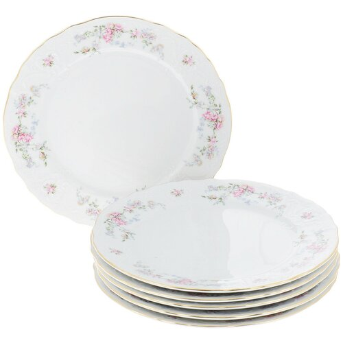 Набор тарелок Дикая роза (отводка золото) недорого