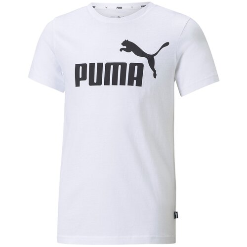 Футболка Puma ESS Logo Tee B Белый 128 58696002 puma футболка женская puma ess cropped logo размер 44 46