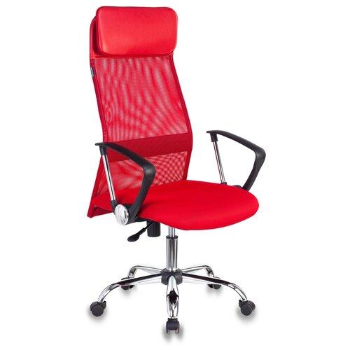 Компьютерное кресло Бюрократ KB-6N для руководителя, обивка: текстиль/искусственная кожа, цвет: TW-97N красный
