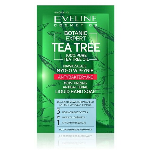 Купить EVELINE BOTANIC EXPERT 75мл Увлажняющее жидкое мыло антибактериальное с чайного дерева 3в1, Eveline Cosmetics