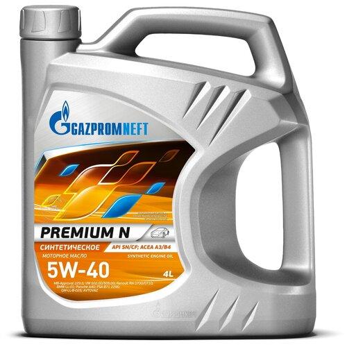 Газпромнефть Premium N 5W-40 (4 л) / синтетическое масло / всесезонное / API SN/CF / ACEA A3/B4 синтетическое моторное масло rixx tp x 5w 40 sn cf a3 b4 4 л