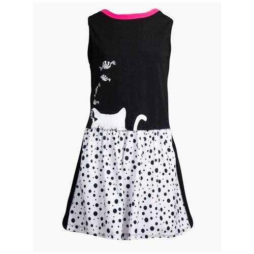 платье d Платье M&D размер 140, белый/черный