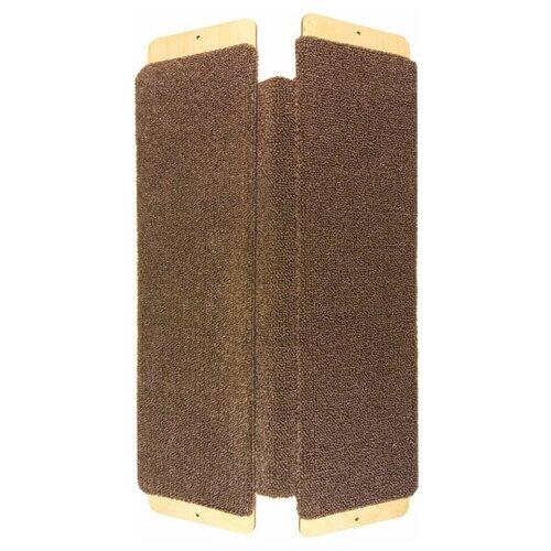 Когтеточка настенная угловая ковровая 49 см*29 см от BRAIL / товары для животных