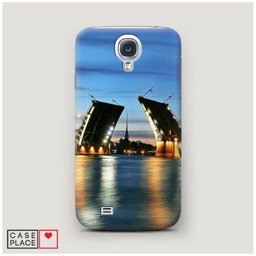 Чехол Пластиковый Samsung Galaxy S4 Разведенные мосты в СПб 2