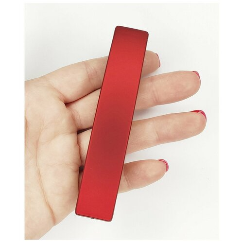Купить Заколка- автомат для волос, красная, большая, Fashion jewelry