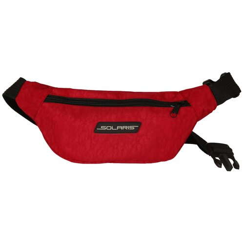 SOLARIS S5424 Сумка поясная, модель 3, Красная solaris 5410 сумка поясная красная