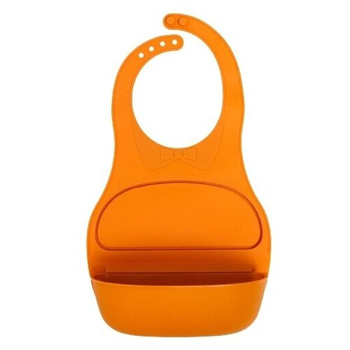 Купить Нагрудник детский с карманом-контейнером, цвет желтый, Mum&Baby, Нагрудники и слюнявчики