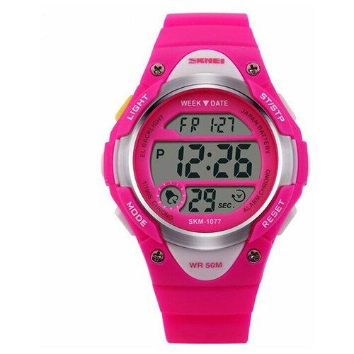 Часы детские SKMEI 1077 - Красные/Розовые