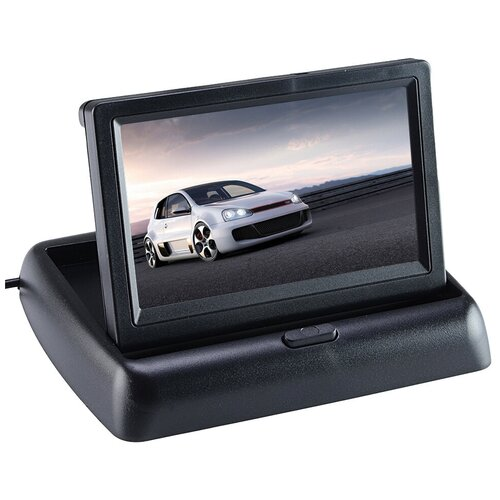 Монитор для камеры заднего вида. Экран для камеры заднего вида в авто. Автомобильный монитор для камеры складной TFT 4,3 дюйма.