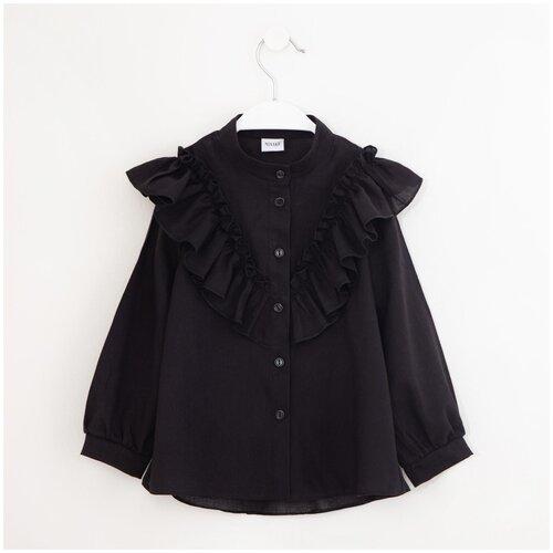 Фото - Рубашка Minaku размер 116, черный рубашка fendi размер 116 кремовый
