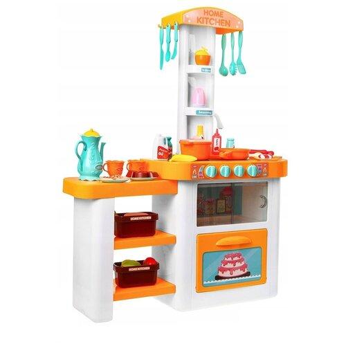 Большой набор Кухня с посудой и продуктами, 55 предметов, со светом, звуком и водой, 82см большой набор кухня с посудой и продуктами 55 предметов со светом звуком и водой 82см