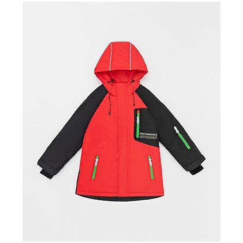 Фото - Куртка Button Blue размер 140, красный/черный куртка button blue 220bbbjc41024800 размер 140 зеленый