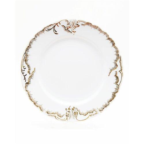 Тарелка Cmielow Rococo 7830 Anna рисунок золотом десертная 17 см. тарелка cmielow rococo плоская 25см фарфор 0031190 rococo