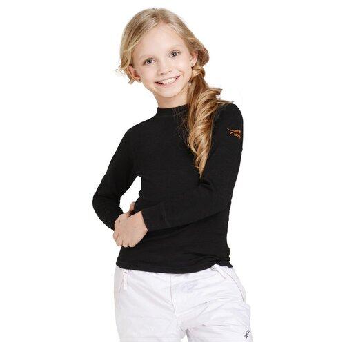 Лонгслив NORVEG Active Kids 4U3HL, размер 128, черный