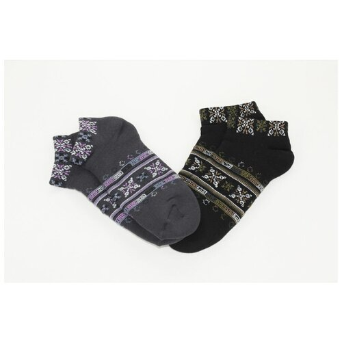 Носки женские Гамма С477, Тёмно-серый, 23-25 (размер обуви 36-40)