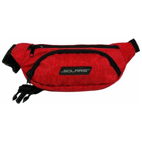 SOLARIS S5410 Сумка поясная, Красная solaris 5410 сумка поясная красная