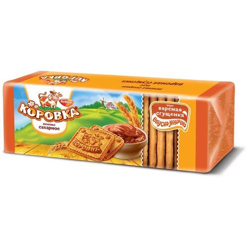 Печенье Коровка с вареной сгущенкой, 375 г батончик бисквитный slacon с варёной сгущенкой 36 г