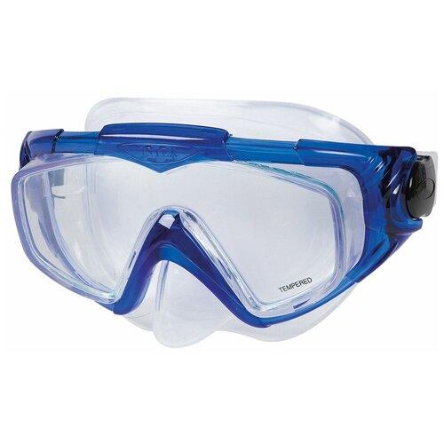 Фото - Маска для плавания Silicone Aqua Pro Mask синяя, от 14 лет набор для плавания intex aqua pro серый