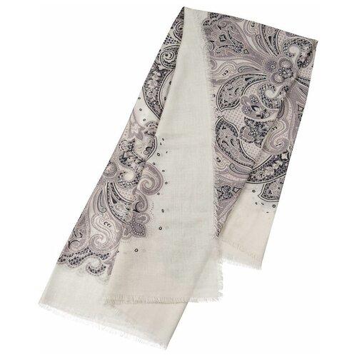 Платок Dr.Koffer S810645-135-62 100% шерсть белый/серый