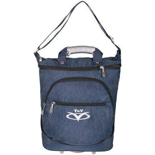 Фото - Дорожная сумка TSV на колесах 526,22 синий/алюминий