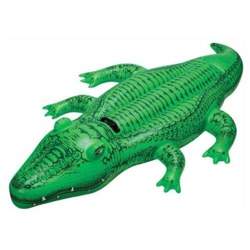 Фото - Надувная игрушка-наездник Intex Крокодил 58546 зеленый игрушка наездник надувная intex черепаха с ручками intex 191х170 от 3 лет 57555