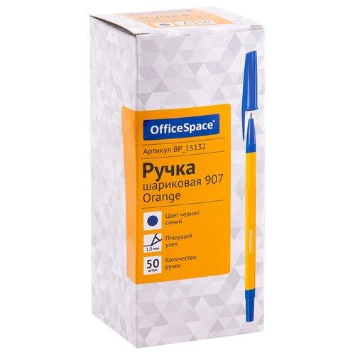Купить OfficeSpace Набор шариковых ручек 907 Orange, 50 шт., 1, 0 мм (BP_15132), синий цвет чернил, Ручки