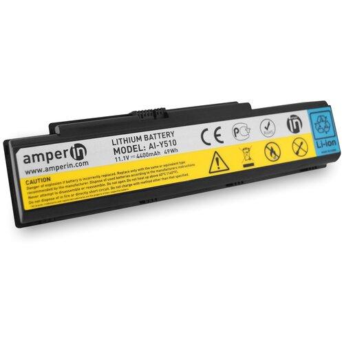 Аккумуляторная батарея Amperin для ноутбука Lenovo IdeaPad Y510 11.1V 4400mAh (49Wh) AI-Y510