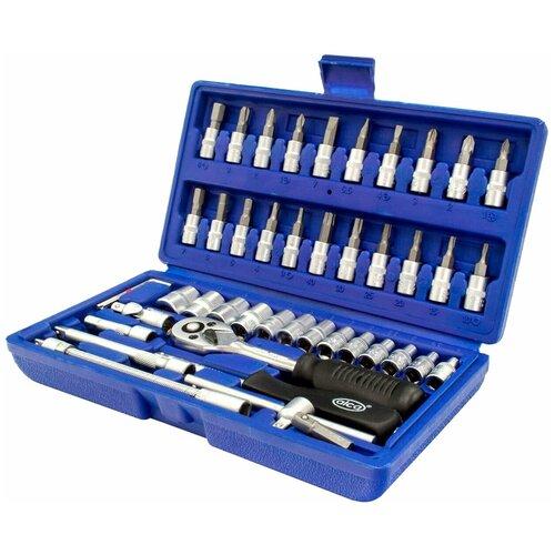 Фото - Набор автомобильных инструментов ALCA 413200, 46 предм., синий набор автомобильных инструментов союз 1048 10 s58c 58 предм синий