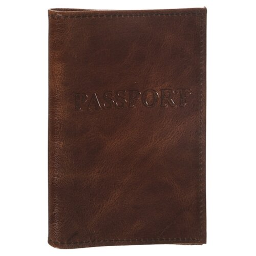 Обложка для паспорта Главдор GL-227 натуральная кожа Brown 51819