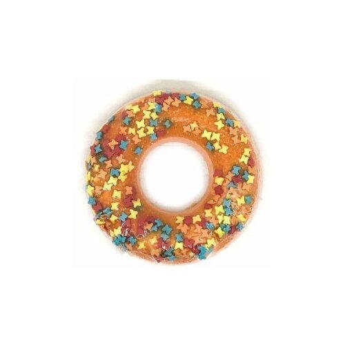 Купить Бомбочка бурлящий шар для ванн. Шарик Пончик Оранжевый с посыпкой, гейзер для ванн 90гр, Bomb Master