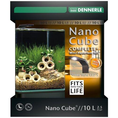 Аквариумный набор 10 л Dennerle NanoCube Complete Plus Style 10 черный/прозрачный аквариум dennerle nanocube 20 литров 1 шт