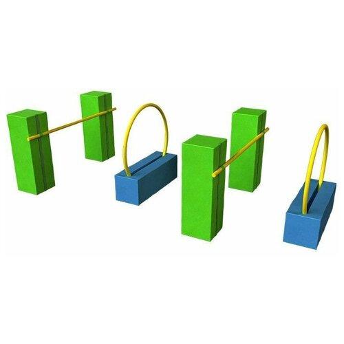 Купить Мягкий игровой комплекс ROMANA 15.89.22, синий/зеленый, Игровые и спортивные комплексы и горки