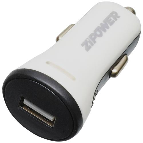 Универсальное зарядное устройство ZIPOWER USB PORT (2.1A)CAR CHARGER WITH LED