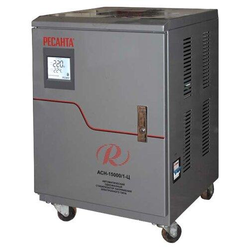 Стабилизатор напряжения однофазный РЕСАНТА ACH-15000/1-Ц (15 кВт) серый