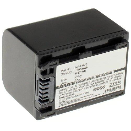 Фото - Аккумулятор iBatt iB-B1-F284 1300mAh для Sony NP-FH50, NP-FH40, NP-FH60, NP-FH70, NP-FH100, NP-FH30, NP-FH120, NP-FH90, iB-F324, аккумулятор для фотоаппарата sony np fe1