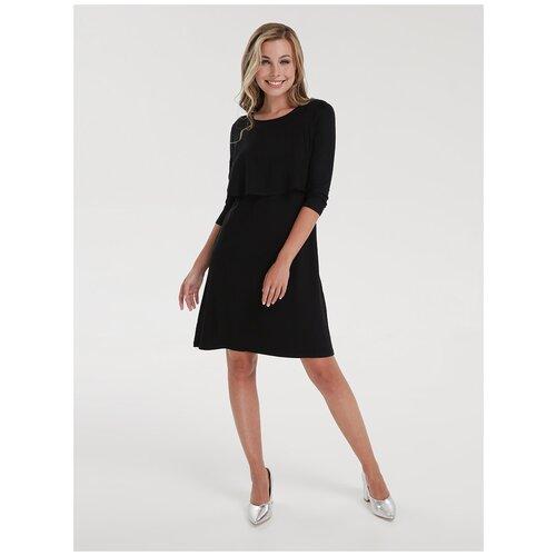 Платье Proud Mom Бегония черное для беременных и кормящих (М)